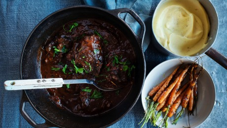 Slow Cooked Braised Beef Cheeks